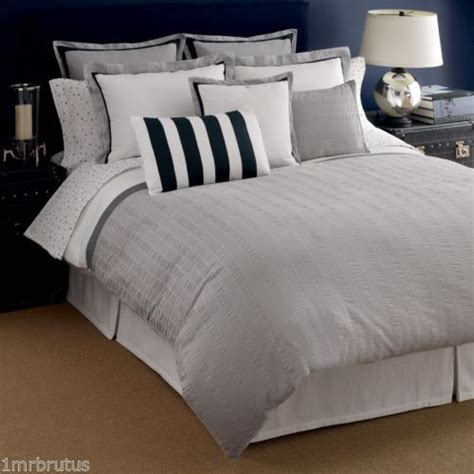 modern grey comforter tommy hilfiger easton king comforter set pucker white gray