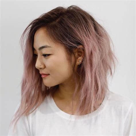 shaggy lob 30 modern asian girls hairstyles for 2018