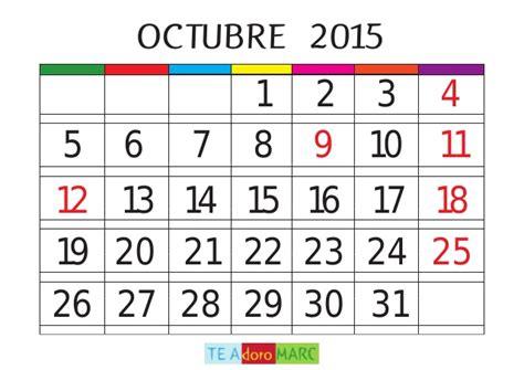 Calendario De Octubre 2015 Calendario 2015