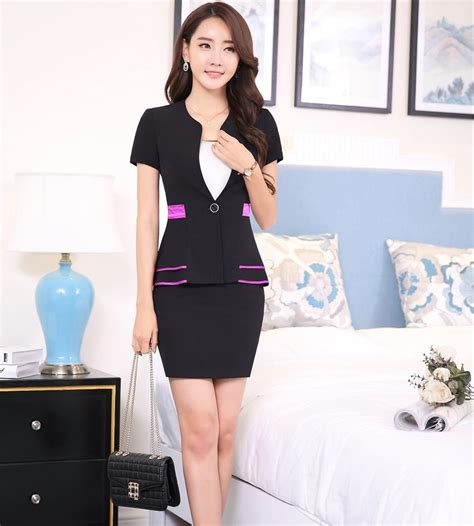 well dress with jacket good hairstyle for a long face formal ol styles ladies office elegant short sleeve 2016