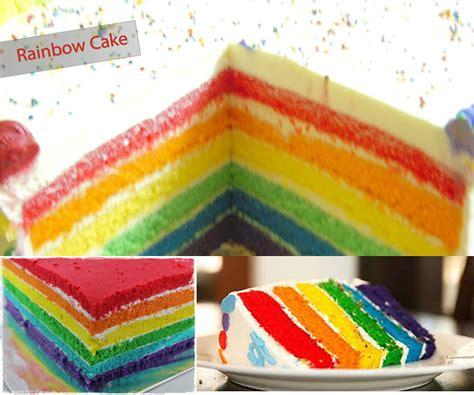 Rainbow Butter rainbow cake resep rainbow sponge cake butter recipes