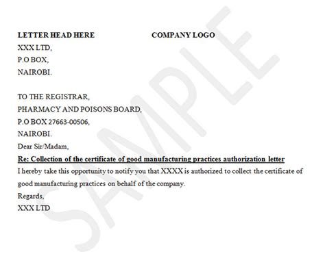 Permission Letter For Going To Temple certificate of manufacturing practices authorization