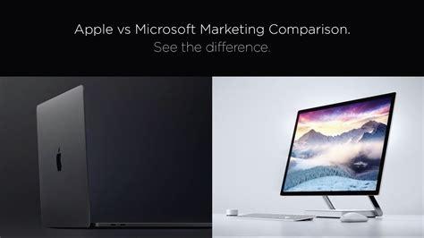 apple vs microsoft apple vs microsoft marketing comparison youtube