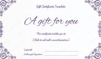 free printable gift certificate template purple free printable gift certificates pdf