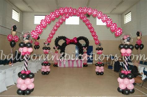 Minnie Mouse Birthday Decoration by Balloon Minnie Mouse Columns Arch Minnie Mouse