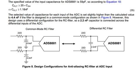 why capacitor is used in low pass filter ads8881x input rc filter common mode and differential mode precision data converters forum