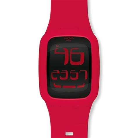 swatch touch chili digital silicone unisex