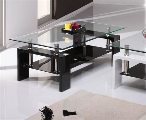 Black And Glass Coffee Tables Parma Black High Gloss And Glass Coffee Table 100w X 60d X 38h Cm