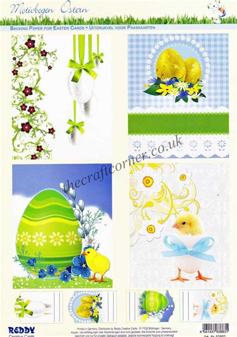 Easter Decoupage - classic easter eggs fluffy yellow die cut 3d