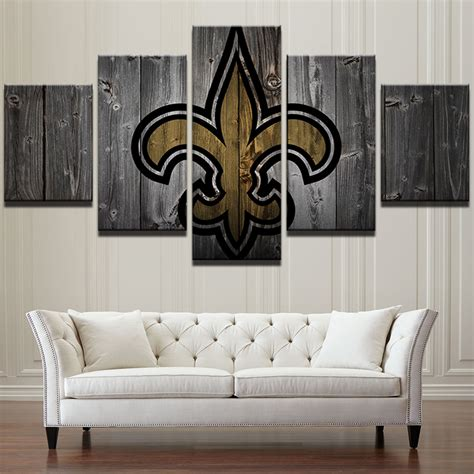 new orleans saints home decor new orleans saints football 5 piece canvas art wall art