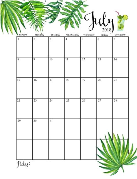 printable monthly july calendar organisation july