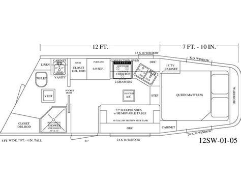 trailer living quarter floor plans living quarter trailer 12 wall floor plan