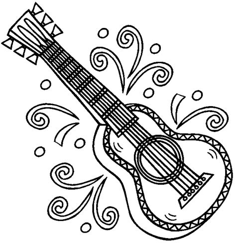 spanish guitar coloring page brinquedos de papel