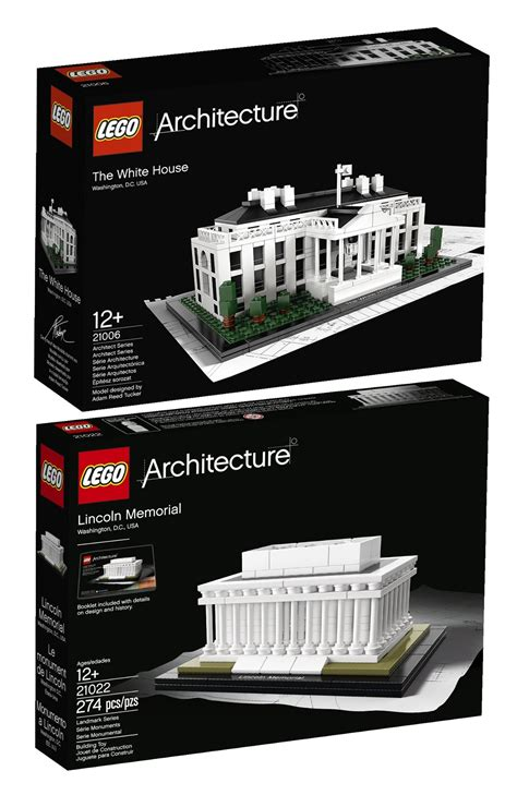lego architecture white house lego architecture bundle white house 21006 and lincoln memorial 21022 5702014804241 ebay