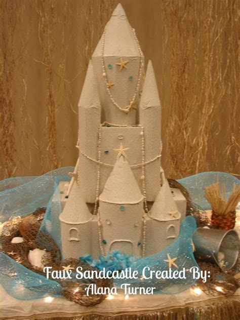 sand textured spray paint faux sandcastle castle pinatas and cardboard boxes can