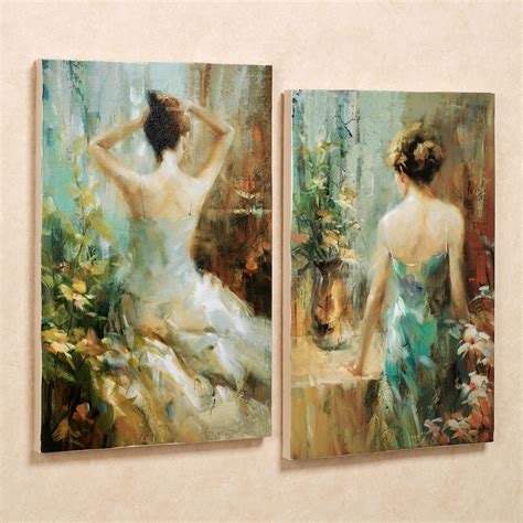 wall paintings elegant ladies canvas wall art set