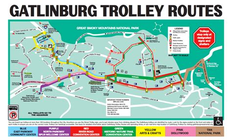 gatlinburg map exactly what you need to about the gatlinburg trolley service visit my smokies