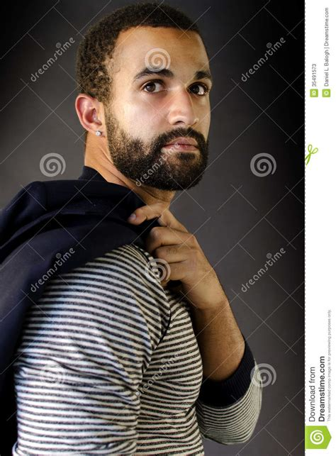 headshot   man  beard stock  image