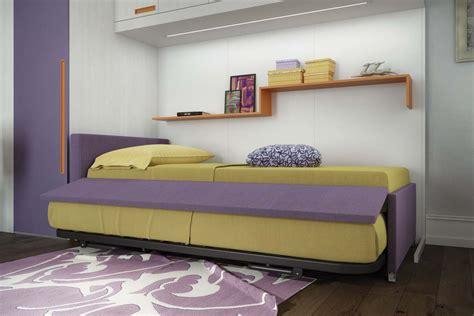 letto con secondo letto estraibile cameretta singola con letto estraibile per ospite