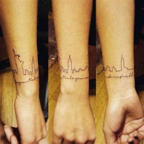 skyline tattoos best 25 skyline ideas on