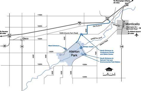 allerton park map directions to allerton park