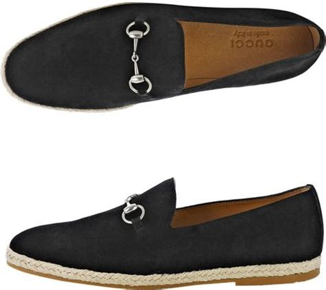 gucci black suede loafers gucci snaffle suede loafers in black for lyst