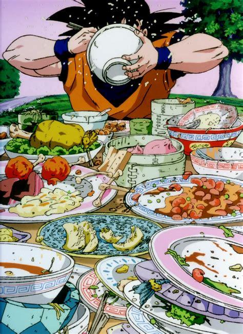 imagenes de goku comiendo imagen goku comiendo movie png wikia dragon ball wiki