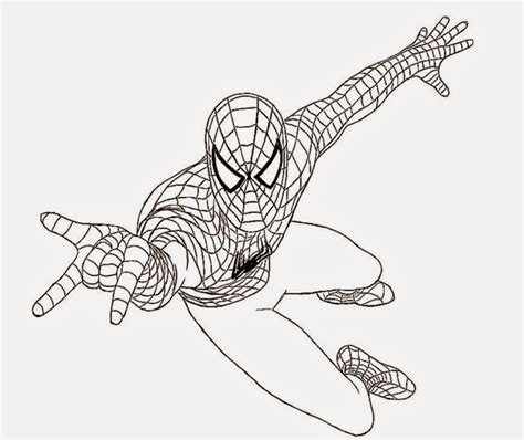 spiderman pictures to color free coloring pictures