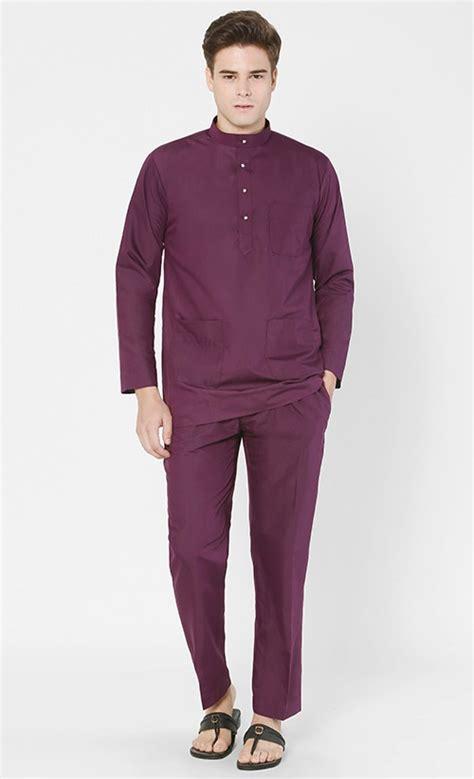 Baju Bayi Costume Gentleman baju melayu moden set in purple fashionvalet