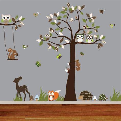 kinderzimmer deko wald vinyl wall decal woodland nursery wall decal tree decal