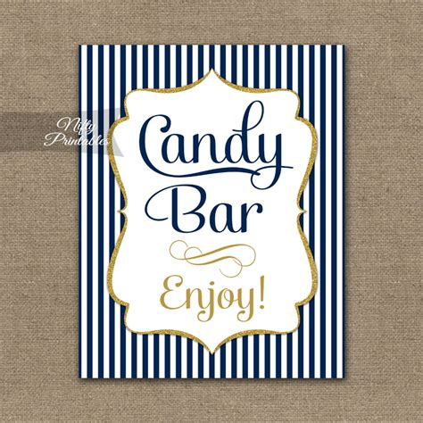 Baby Shower Buffet Sign by Buffet Sign Navy Blue Gold Nifty Printables