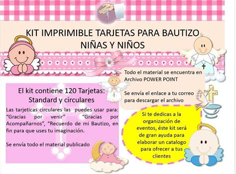 kit imprimible tarjetas bautizo ni 241 os y ni 241 as invitaciones bs 501 00 en mercado libre