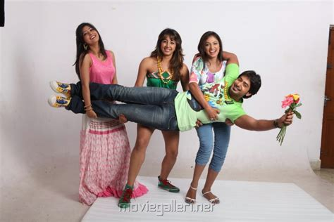 actress lifting and carrying actor picture 427430 yuvakudu telugu movie stills new movie