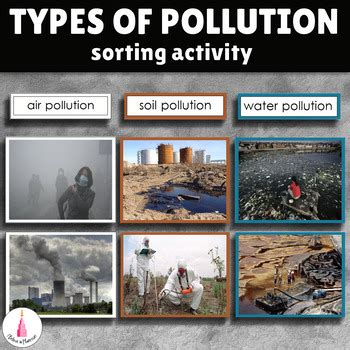 types of environmental pollution sorting activity by i