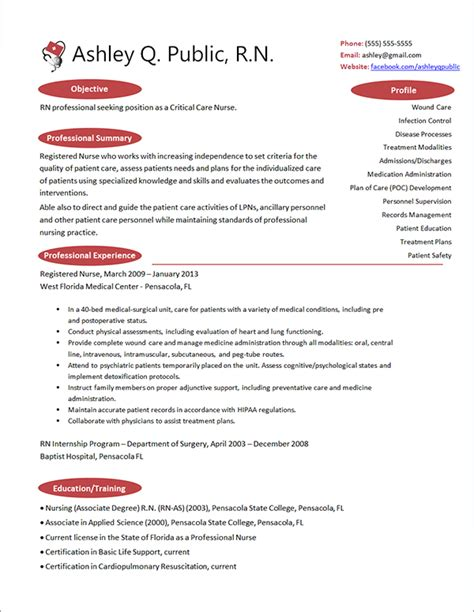 Professional Nursing Resume by Best Photos Of Professional Cv Template For