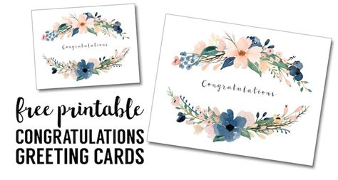 Congratulations Card Printable Free Printable Greeting Cards Paper Trail Design Congratulations Wedding Card Template