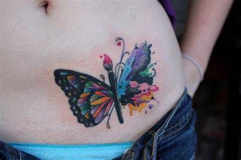 a creative butterfly tattoo design for creative people who