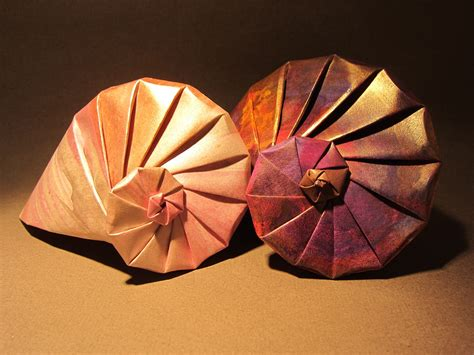 How To Make Paper Shells - can t make it to the try folding these origami