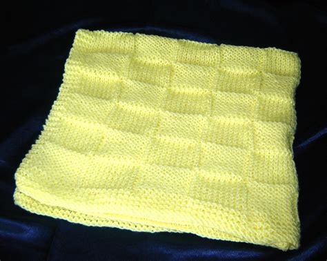 yellow pattern blanket hand knit yellow baby blanket in basket weave pattern baby