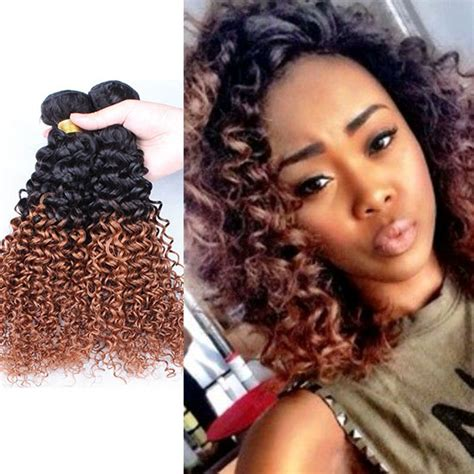 k michelle kinky curly hair 7a brazilian kinky curly hair extensions two tone 1b 30