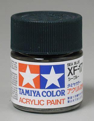 Tamiya Enamel Sea Blue Xf17 tamiya color xf17 sea blue acrylic paint 3 4 oz 81317