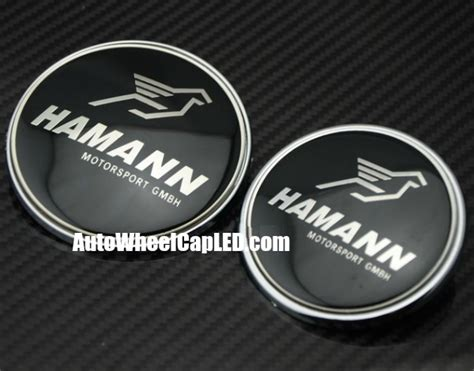 Emblem Grille Bmw Hamann bmw hamann black silver 2pcs 82mm 74mm trunk emblems badges roundels bonnet boot motorsport