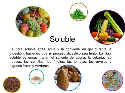 alimentos fibra soluble la fibra