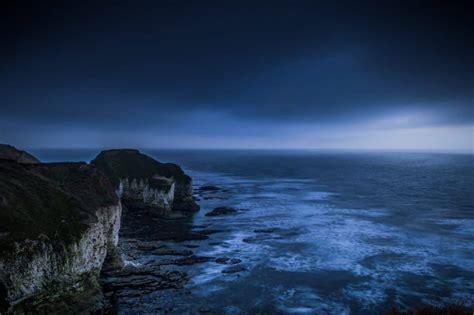 picture ocean dusk sunset darkness night beach