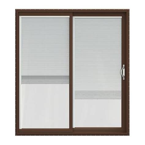 Blinds For Patio Doors Home Depot jeld wen v 2500 series vinyl sliding patio door with