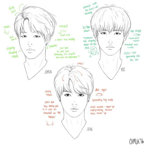 V Drawing Tutorial by Pointers On How To Draw Jungkook V And Jimin How To