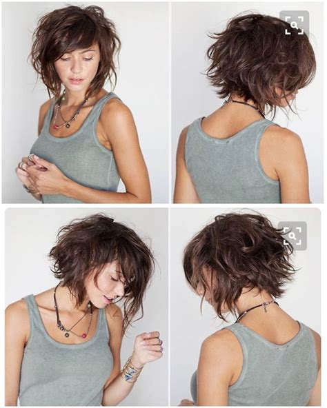 Curly Bob With Shorter Layers On Top Around Face | pictures of cute short layered bob haircut porn website name