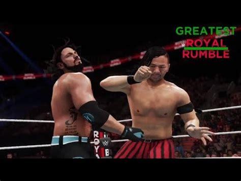 wwe 2k18 aj styles vs shinsuke nakamura | greatest royal