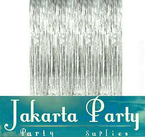 Tirai Curtain jual tirai foil curtain silver back drop rumbai tirai