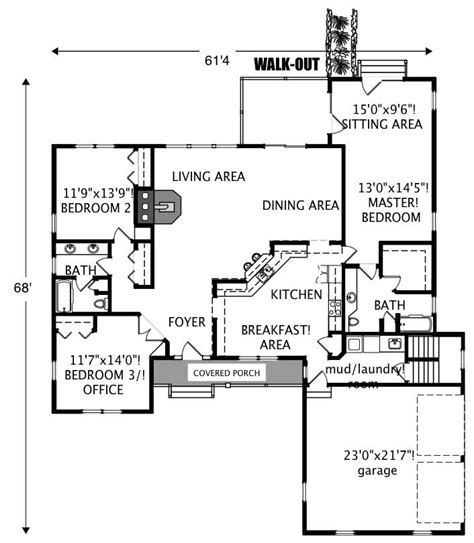 house plan 110 00135 ranch ranch traditional home with 3 bedrms 2218 sq ft plan
